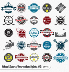 Mixed Sport and Recreation Labels vector