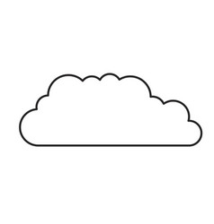 monochrome silhouette of cloud service icon vector image
