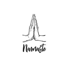Namaste hand drawn vector