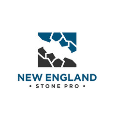 Natural stone industry logo vector