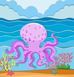 Octopus in the ocean vector image