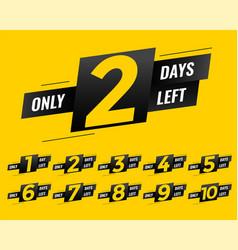 Promotional number of days left sign banner vector