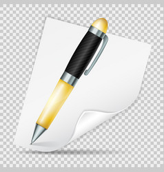 realistic pen and note vector image