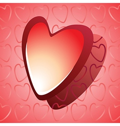 Red glossy heart vector