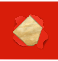 Red Torn With Old Paper vector image