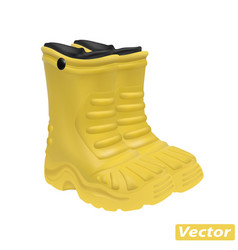 rubber boots isolated on white background vector image