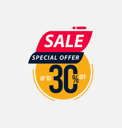 Sale special offer up to 30 off limited time only vector
