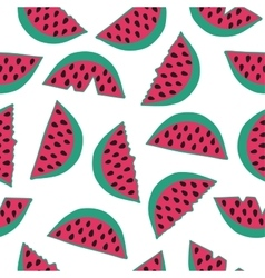 Seamless pattern with watermelon vector