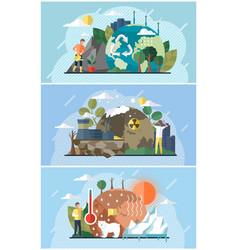 Set on theme environmental vector