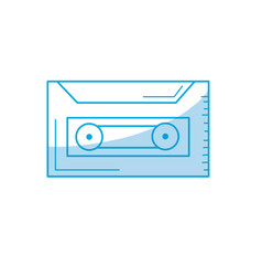 Silhouette cassette to listen and play music vector
