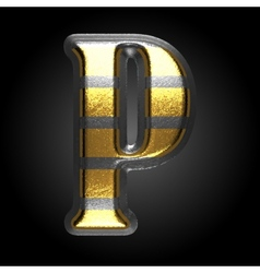 silver and golden figure p vector image
