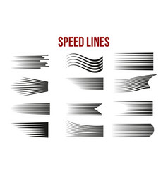 Speed line on white background for comic books vector