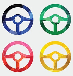 steering wheel icon Abstract Triangle vector image
