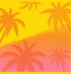 summer banner with palm trees vector image