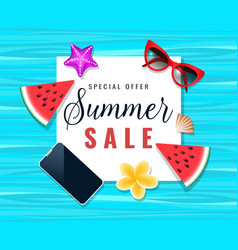 summer sale background vector image