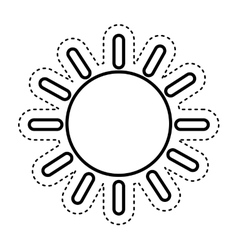 Sun climate sign icon vector