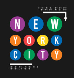t-shirt design in the concept of new york city vector image