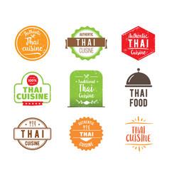 Thai cuisine label vector