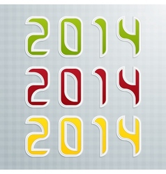 The Fourth Set of Colored Figures New Year vector image