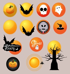 the moon halloween vector image