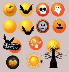 The moon of Halloween vector