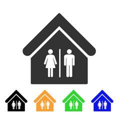 Toilet building icon vector