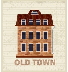 Town house vector