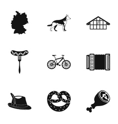 Travel to Germany icons set simple style vector