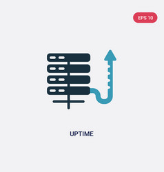 two color uptime icon from web hosting concept vector image