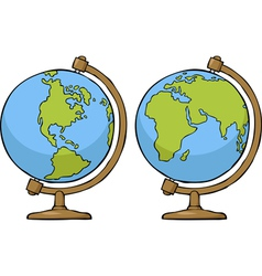 two globe vector image