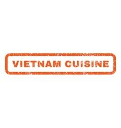 Vietnam Cuisine Rubber Stamp vector image