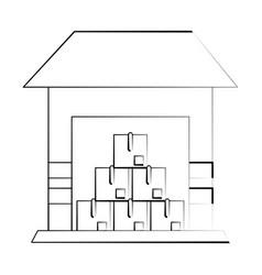 warehouse storage building vector image