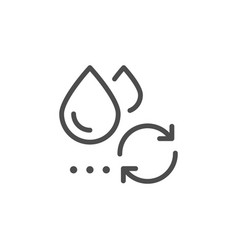 Water reuse line icon vector