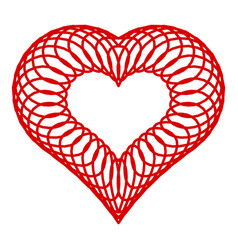 wired heart icon simple style vector image
