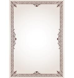 Decorative border frame vector