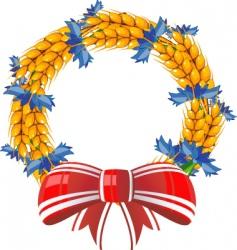 wheat wreath vector image vector image