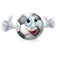 cartoon soccer ball character vector image vector image
