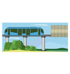Monorail vector image