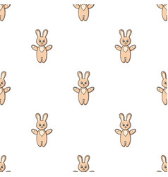 rabbit toy icon in cartoon style isolated on white vector image