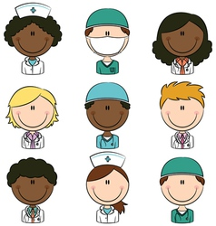 medical avatars vector image vector image