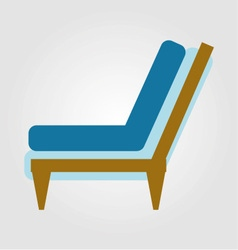 Side view of home or office furniture- sofa vector image vector image