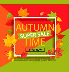autumn super sale banner vector image