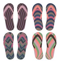 colorful summer flip flops vector image