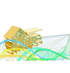 house concept background vector image