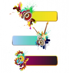 set of musical elements vector image vector image