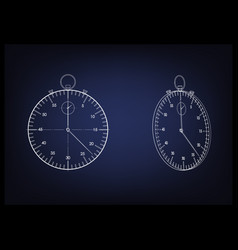 3d model of a stopwatch vector image