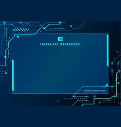 Abstract blue technology geometric and connection vector