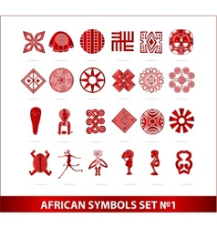 african symbols vector image