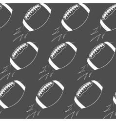 American football ball rocket seamless pattern vector