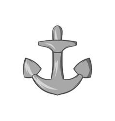Anchor icon black monochrome style vector image